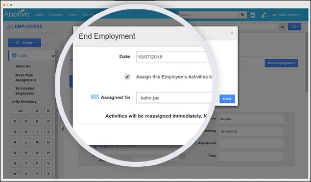end employeement