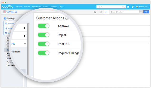 estimate customer actions