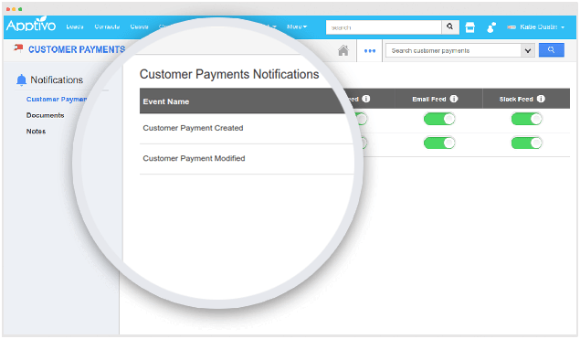instant notification customer payment
