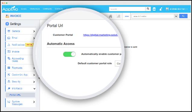 invoice portal