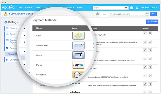 payment method supplier payment