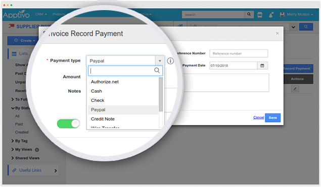 record payment supplier invoices
