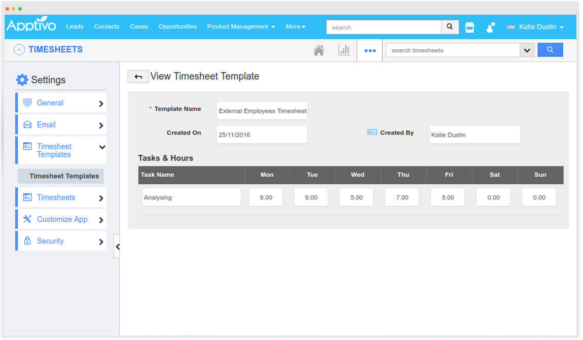 timesheets templates